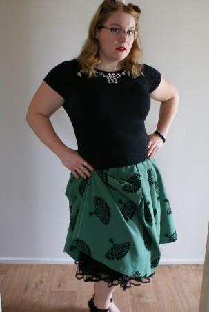 cropped petticoat