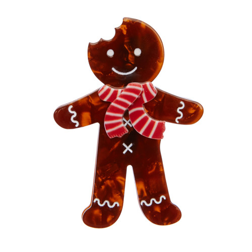 Erstwilder_Ginger_The_Christmas_Cookie_Brooch_Brown_Front