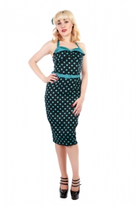 Ginger Polka Dot Pencil Dress