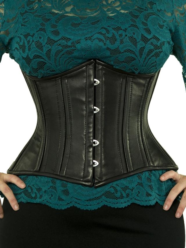 waist-trainer-cs-426-short-black-leather-corset-front