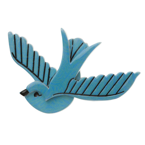Erstwilder_Flying_With_Fifi_Brooch_Blue_Front